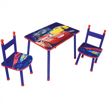 table-et-2-chaises-cars