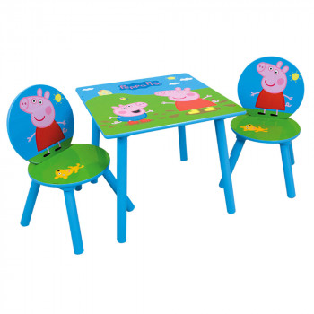 table-et-2-chaises-peppa-pig